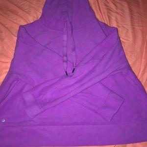 Purple Fleece Hoodie.